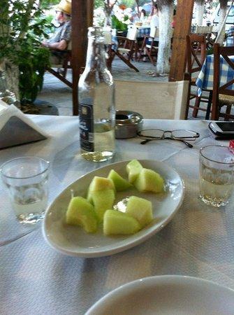 Kerkis Bay Hotel: Vine and melon mmmmmm