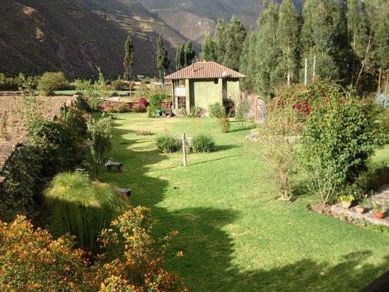 The Green House Peru: Udsigt fra mit værelse mod Bryans og Gabriels hus