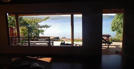 looking out of Mystic Sands house