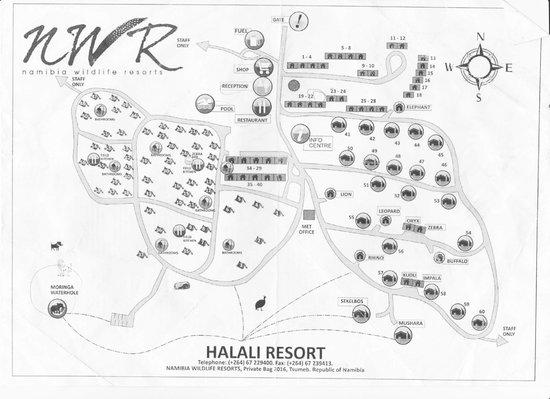 Halali Resort: Map of area