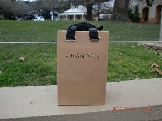Domaine Chandon: ジャムを購入したらこんな素敵な紙袋に入れてくれました