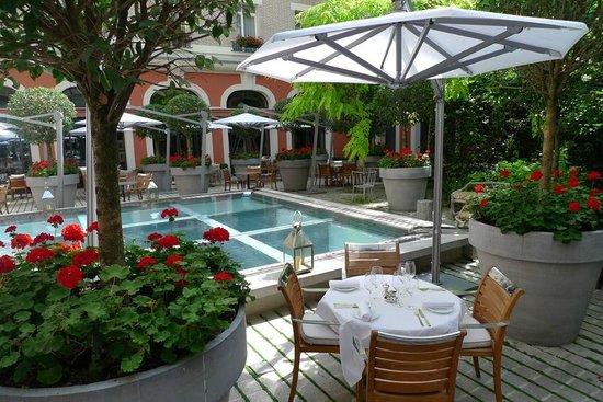 Superbe jardin photo de la cuisine le royal monceau - Royal monceau la cuisine ...