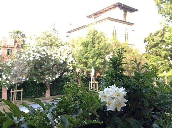 Biasutti Hotel: Blick aus dem Frühstückswintergarten