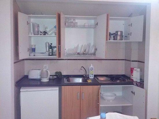 Apartamentos Galeon Playa: Kitchen equipment