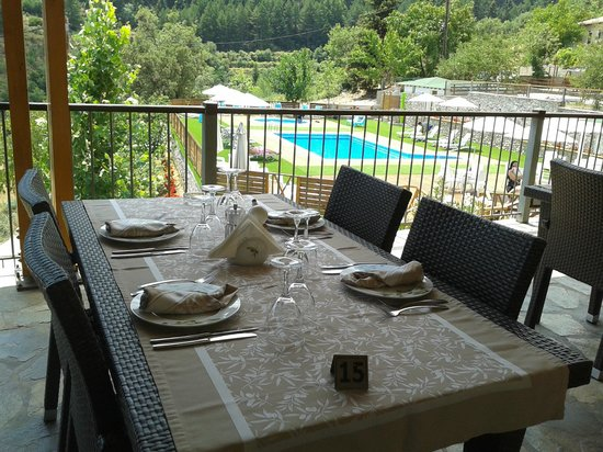 Toriza Restaurant : view to the pool