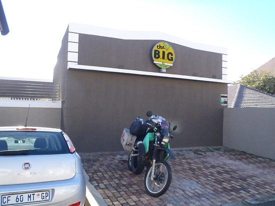The Backpackers in Green Point: my bike out the front