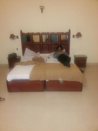 Jungle Palace Homestay: King Size Bed in a spacious room
