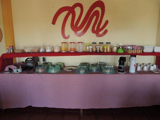 Casa Prainha Pousada : Mesa do Café da Manhã