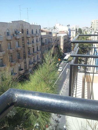 City Center Jerusalem: View from the balcony to sreet