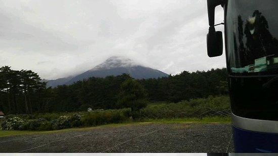 Mt. Daisen: 雲がかかっていますがきれいでした。