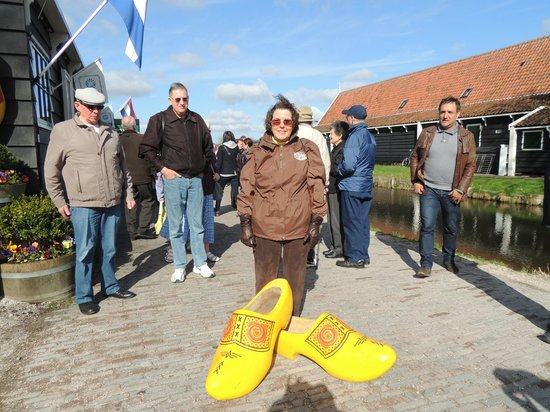 Zaanse Schans: My picture outside with a large wooden shoe