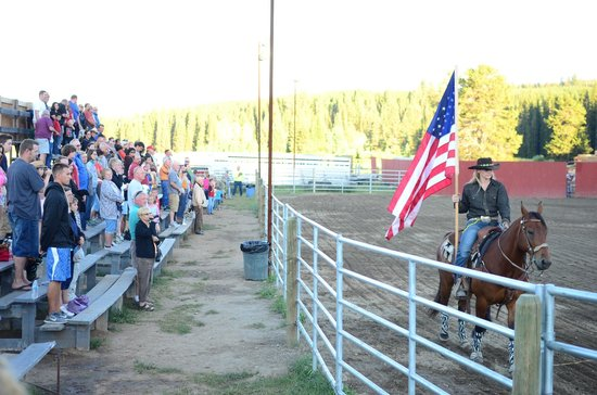 Super 8 West Yellowstone: local rodeo only 600 yards down the road