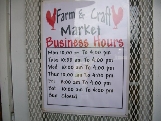 Woodstock Farm & Craft Market: Farm Market hours