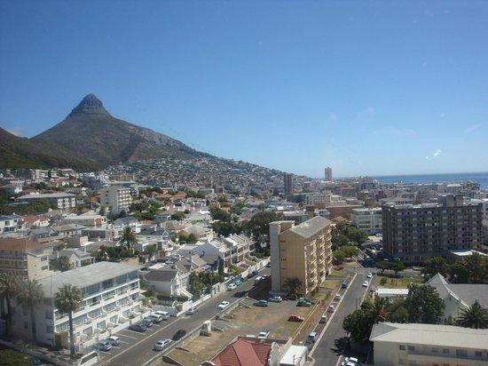 The Ritz Cape Town: vista da janela do nosso quarto