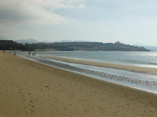 SBH Costa Calma Palace : la plage devant l'hôtel (en début de matinée)