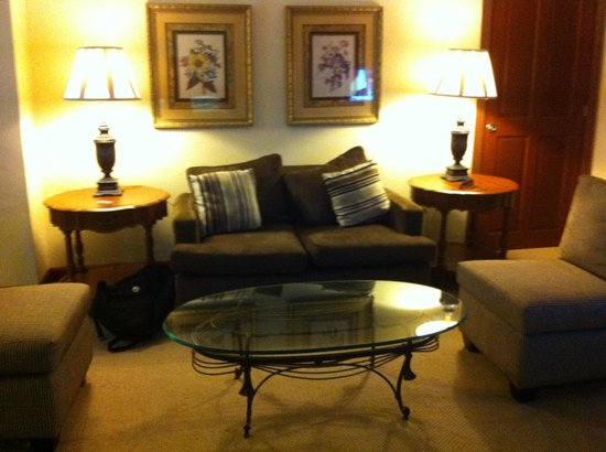 Hyatt Regency Merida: sala de estar de la suite