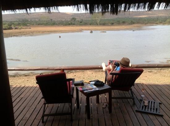 Camp Shawu: view fom bush suite deck