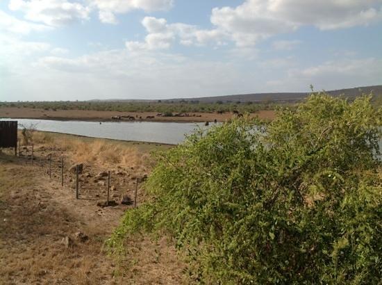 Camp Shawu: view of dam