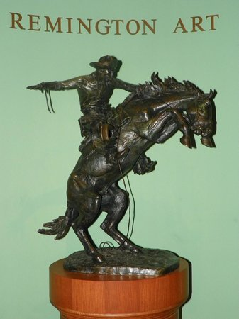 "Frederic Remington Art Museum: Large ""Bronco Buster"""
