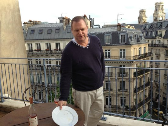 La Maison Saint Germain: on the Terrace for dinner