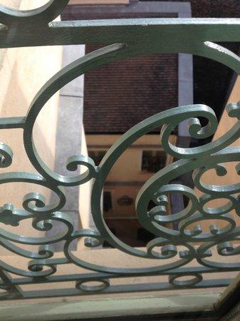 """La Maison Saint Germain: inner courtyard overlooking the """"little house"""""""
