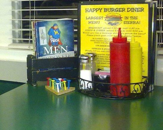 Happy Burger: En la mesa