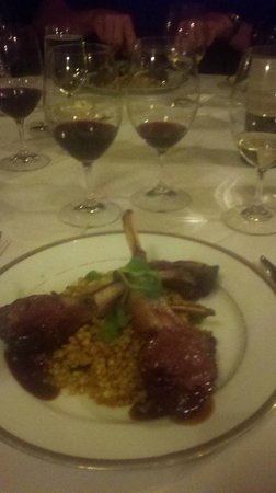 Whispers Restaurant: Lamb chops with cherry sauce