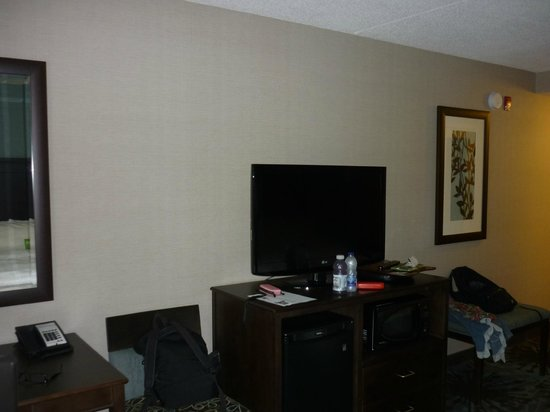 Hampton Inn by Hilton Toronto Airport Corporate Centre: Zona scrivania e TV