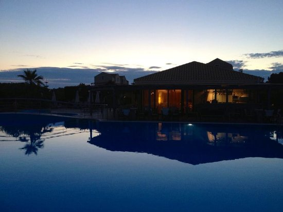 Avithos Resort at night