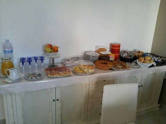 Onda Bed and Breakfast : Il buffet della colazione!!
