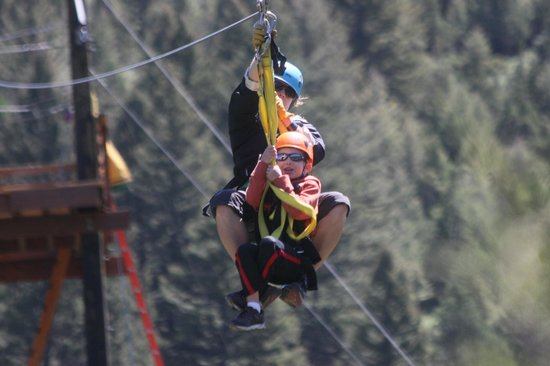 Montana Whitewater Raft Company : Tandem ride on zip for little guy