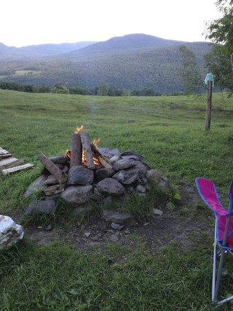 Au Diable Vert: our campfire area