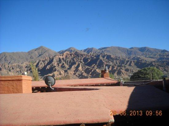 Antigua Tilcara B&B: Con esta vista desayunaba todos los días!