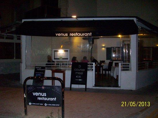 Venus Restaurant : Venus from the street