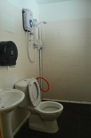 D' Beach Street Lodge : clean, functional bathroom