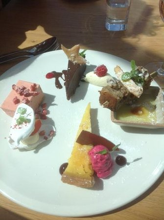 The White Horse Restaurant: Assiette of Desserts