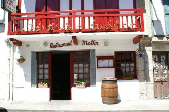 Chez Mattin : Façade du restaurant