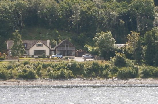 Stronchreggan View Guest House from Loch Linnhe Cruise