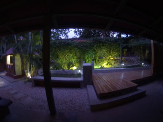 Indra Inn: The deck at night