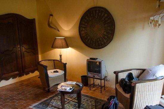 Manoir du Bois de Grez: Globetrotter sitting area
