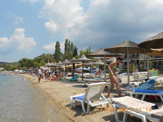 Meliton Inn Bungalows: beach area
