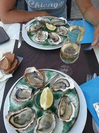 Côté Mer Côté Gers : and now the oyster... wonderfull
