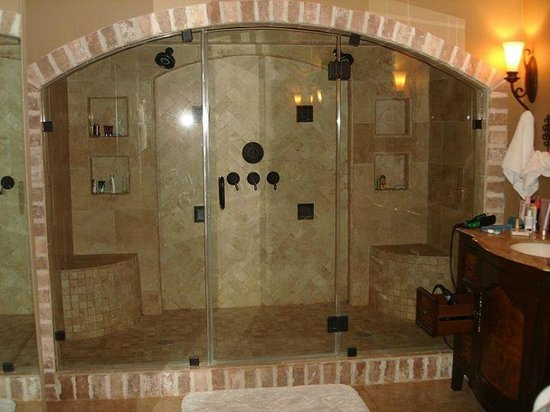 the big 2 person shower in the heavenly haven suite. Black Bedroom Furniture Sets. Home Design Ideas