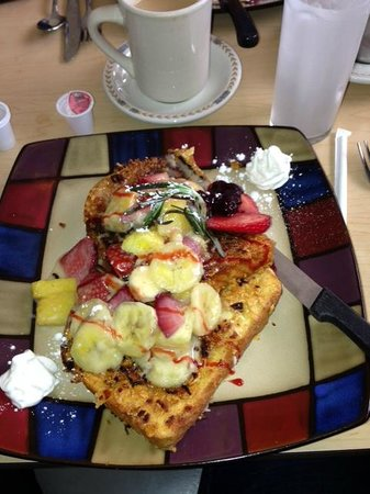 Tatiana's Restaurant: Tatiana's crusted French toast with fruit topping: $9.95