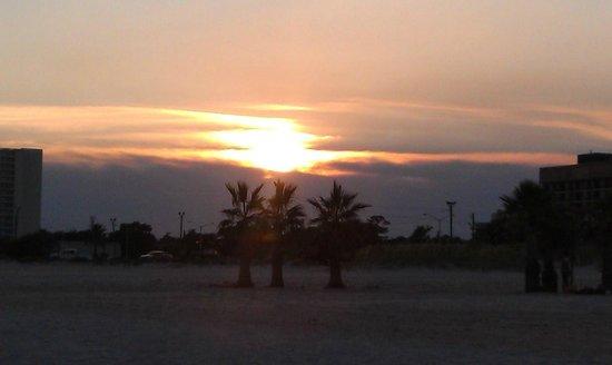 Cajun RV Park : Beach sunset right across from rv park.