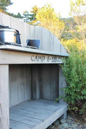 Treebones Resort: Our cooking Station at the Site