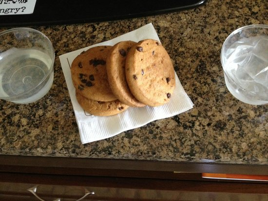 Hilton Garden Inn New Orleans Convention Center : Fresh lemonade and chocolate cookies