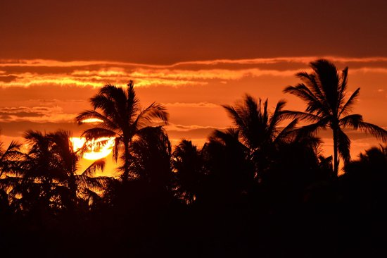 Palm Villas at Mauna Lani: Sunset from Lanai