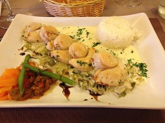 La Fringale : delicious scallop with leek fondue