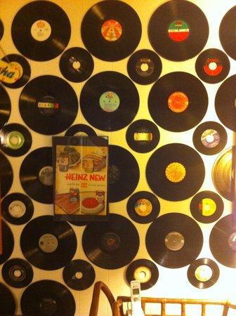 Sunset Motel: My favorite, vinyl decor